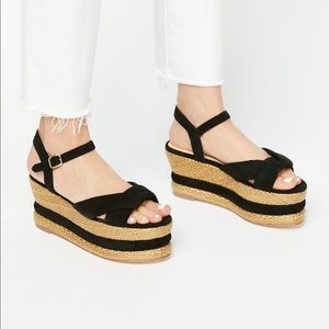 Free People vegan platform espadrille sandals/9